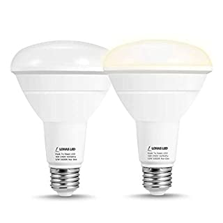 Dusk to Dawn LED Light Bulb, LOHAS BR30 Flood Light Bulb, 12W(100W Equivalent) Smart Sensor Light Bulb, Auto On/Off, Daylight 5000K 1000LM Outdoor Porch Lighting for Indoor/Outdoor, 2 Pack