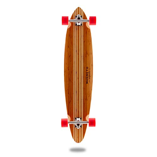 Hana Longboard Collection | 42 inch Longboard Skateboards | Bamboo with Hard Maple Core | Cruising, Carving, Dancing, Freestyle (Pintail) by Magneto (Image #4)