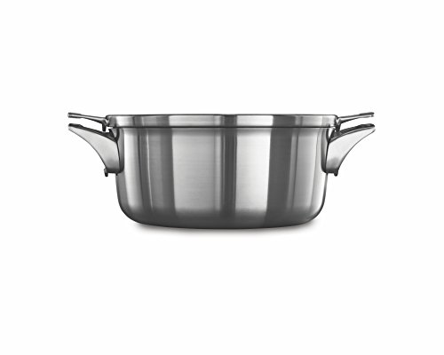 Calphalon Premier Space Saving Stainless Steel 5qt Dutch Oven with Cover