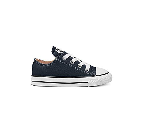 Converse Unisex-Child Chuck Taylor All Star Low Top Sneaker, navy, 6 M US Toddler