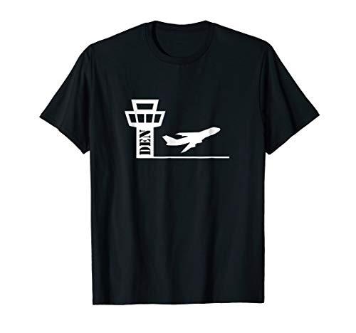 Air Traffic Control Tower Airport ATC Tshirt - Denver DEN (Denver Airport-shops)