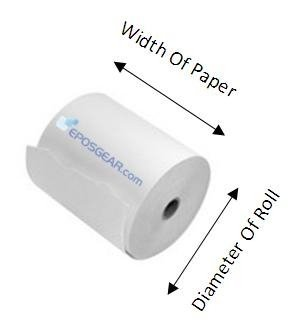 Verifone and More BPA Free EPOSGEAR/® 57mm x 30mm 57x30 Thermal Paper Till Cash Register Credit Card PDQ Swipe Chip and Pin Machine Receipt Printer Rolls 500 Ingenico Compatible with Worldpay