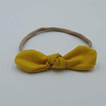 aa07233aaead Laliva New Bebe Girls Super Soft Nylon Headband Tiny Bow Hair Accessories  Rabbit Ears Knot Children