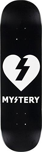 - Mystery Skateboards White Heart Black/White Skateboard Deck - 8.5