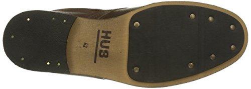 Hub Lomu L80, Zapatos de Cordones Derby para Hombre Braun (Dark Brown 017)