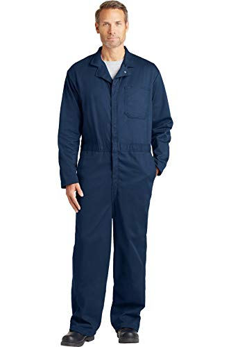 - Bulwark CEC2NV RG/40 Flame Resistant Contractor Coverall, Navy Blue, M