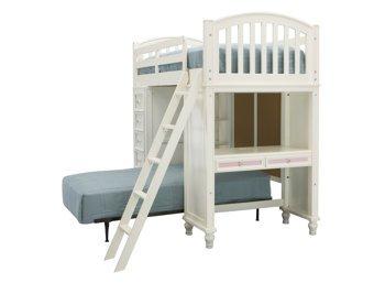 Build A Bear White Loft Bed