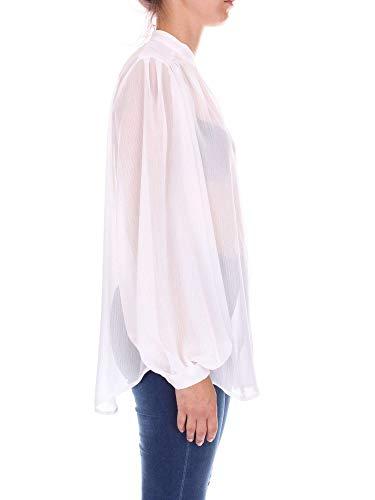 Blanc Femme Polyester Coreanabianco Chemise Nineminutes qROEwCC