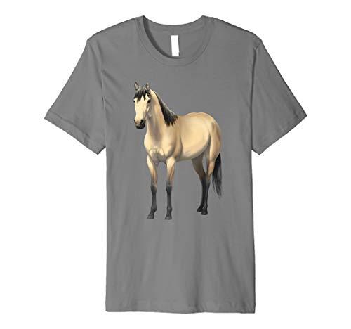 Beautiful Buttermilk Buckskin Quarter Horse T-shirt ()
