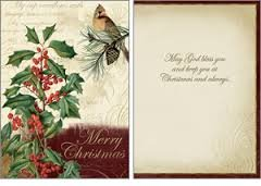 Legacy Publishing Group Boxed Holiday Greeting Cards with Scripture, Holly and Cardinal (HBX11500)
