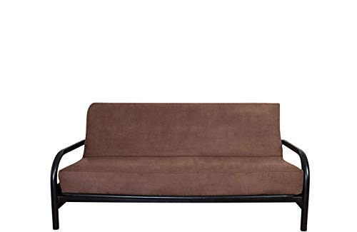 OctoRose Full Size Bonded Classic Soft Micro Suede Futon Cover (Chocolate Brown) (Cover Only, Mattress and Flame DO NOT Included) ()