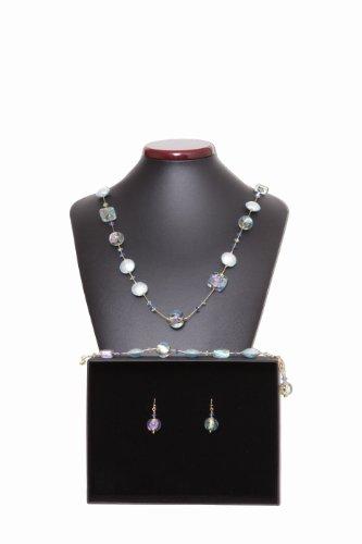 Parure Clair de Lune Véritable bijoux en verre de Murano