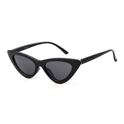(Retro Vintage Cat Eye Sunglasses for Women Clout Goggles Plastic Frame)
