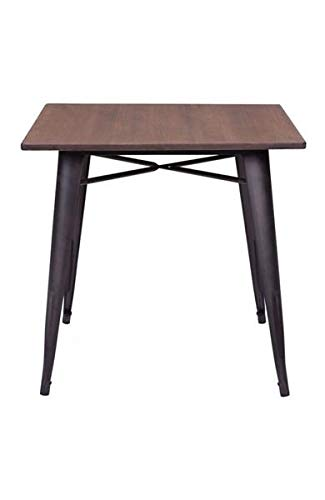 Modern Square Bamboo Desk or Meeting Table with Steel Legs