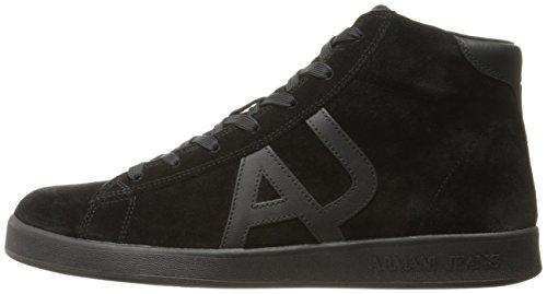 Uomo Cut Collo Alto Nero Sneaker Armani A nero High 00020 Cxw5fqIxY