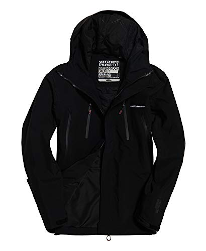 Superdry Men's Hydritech Ultimate Waterproof Jacket, Black