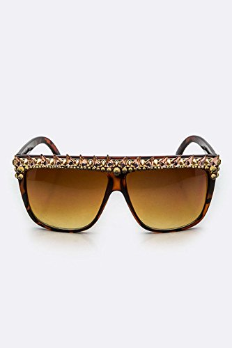 Chic Chelsea Austrian Crystal Retro Spiky Square Sunglasses - York New Wholesale Sunglasses