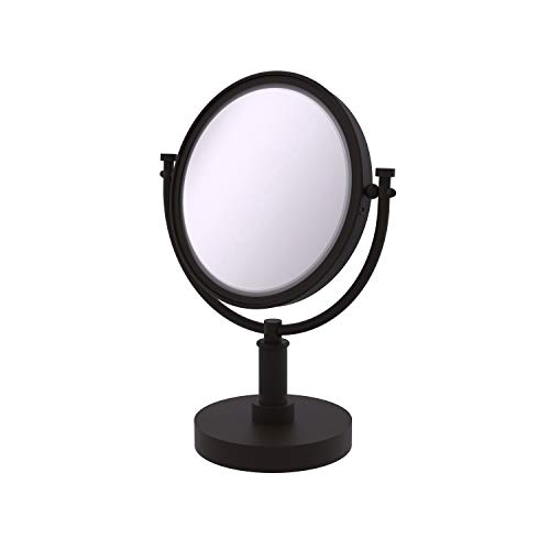 Allied Brass DM-4/4X-ORB 8-Inch Table Mirror with 4x Magnification, 15-Inch, Oil Rubbed Bronze