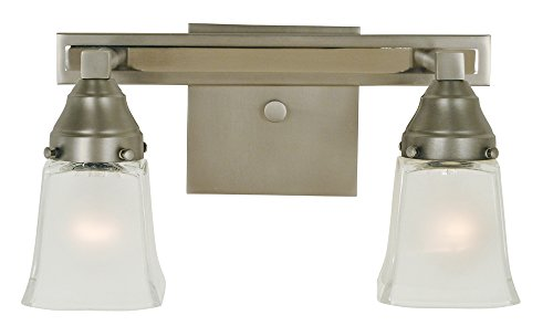Framburg 2-Light Satin Pewter/Polished Nickel Mercer Sconce (Lamp Framburg Outdoor)