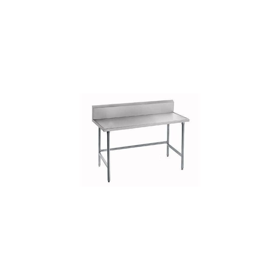 """14 Gauge Advance Tabco TVKG 2411 24"""" x 132"""" Open Base Stainless Steel Commercial Work Table with 10"""""""