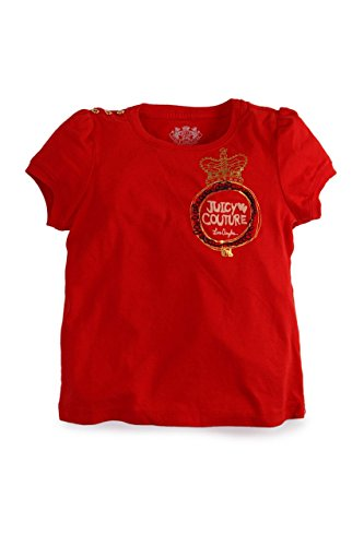 Juicy Couture Camiseta con Motivo CURLY CREST LOGO TEE Rojo