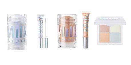 Milk Makeup Holographic Stick and Lip Set Mars & Supernova and Holographic Powder Quad