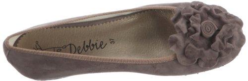 Debbie 9701 Damen Ballerinas Braun (Taube)