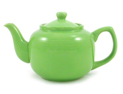 Lime Green Classic 6 Cup Ceramic Teapot