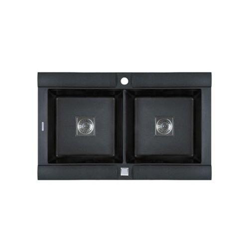 Astracast Kitchen Sink - Astracast GE20RZUSSK Geo Double Bowl Kitchen Sink, Metallic Black
