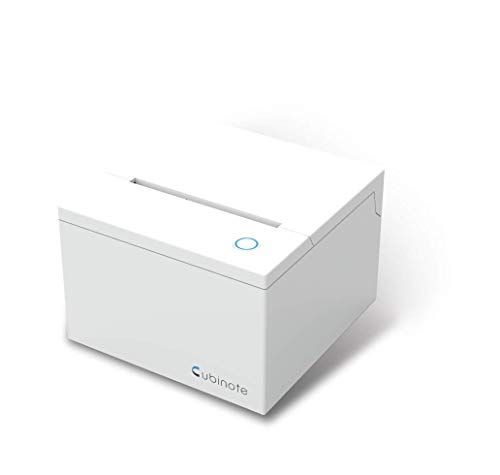 Cubinote Pro Thermal Printer | Inkless Sticky Note Printer | Photo Printer | Wi-Fi and Bluetooth Mode | Compatible with iPhone and Android (White)