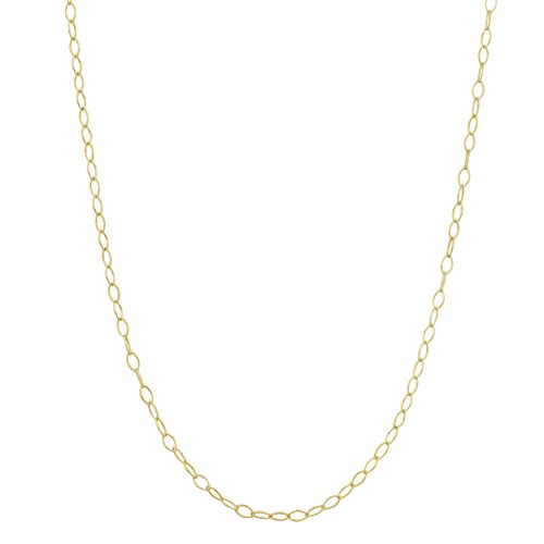 Kooljewelry Yellow Gold Plated Sterling Silver 1.5 mm Open Link Chain Necklace (24 - Gold Inch Plated 24