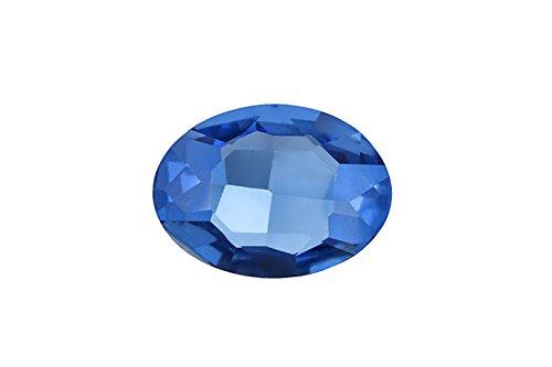 3pcs Embellishment rhinestone, sapphire Oval foil back crystal 30x20mm