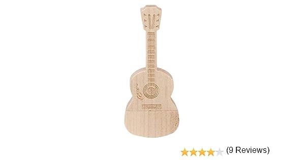 Guitarra Madera 16 GB – Guitar - Memoria Almacenamiento de Datos ...