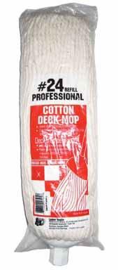 Lanier Deck Mop Refill Cut End Cotton 4 Ply ()