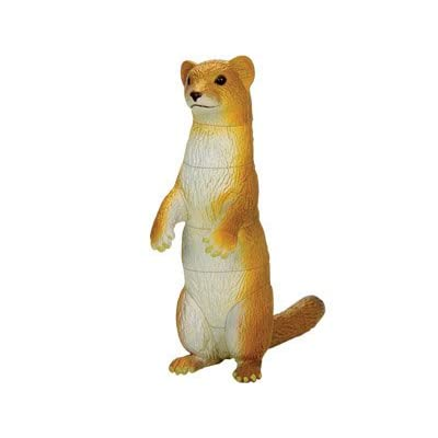 ARTKAL Assorted 4pcs/Set of Ukenn 3D Lovely Animals Figure Playsets Puzzles Blocks Toys DIY Hedgehog Chipmunk Weasel Koala Models Kids 3566: Toys & Games