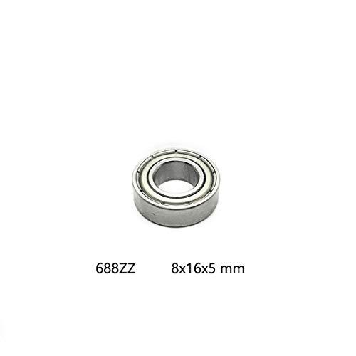 10Pcs 688ZZ 688 ZZ 8X16x5mm Metal Double Steel Shielded Ball Bearing Mini Radial Deep Groove Ball Bearings 688Z 688 Zz 8165 Mm ()