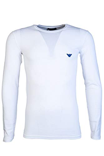 - Emporio Armani Mens Round Neck Long Sleeve T Shirt 111023 8A512 Size M White
