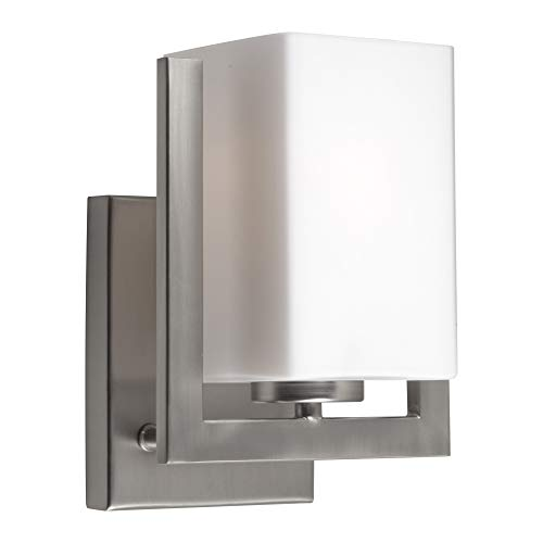 Indoor Wall Sconce Forte Lighting - Forte Lighting 2669-01-55 Signature 1 Light 7 inch Brushed Nickel Wall Sconce Wall Light