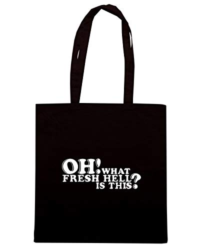 Borsa Shopper Nera OLDENG00602 OH WHAT FRESH HELL IS THIS