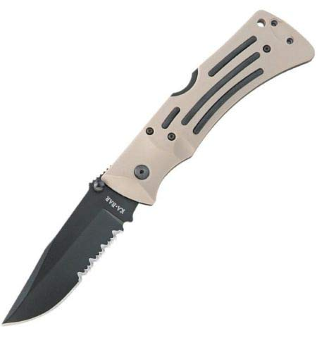 Ka-Bar 2-3053-0 Desert Mule Folder Knife (Handle Desert Zytel)