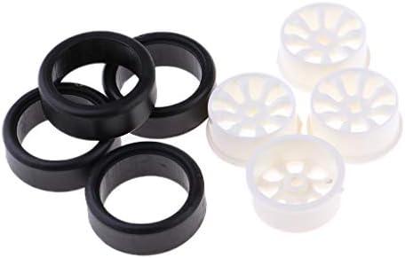 RCカータイヤ ゴムタイヤ プラスチック ホイールリム 1:24 RCカーアクセサリー