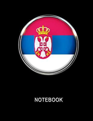 Notebook. Serbia Flag Cover. Composition Notebook. College Ruled. 8.5 x 11. 120 Pages....