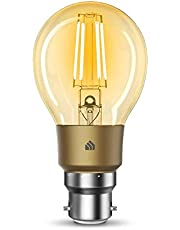 TP-Link KL60B KL60B(UN) TP-Link Kasa Filament Smart Bulb, Warm Amber, No Hub Required, B22 Lamp Base, Control from Anywhere, Works with Alexa & Google (KL60B), Yellow
