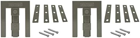 Scheffinger EM3 grau, Fenstersicherung für Fenster oder Türen aus Kunststoff/Holz/Aluminium, Einbruchschutz DIN zertifiziert, hochwertiger massiver Stahl, 2er Set