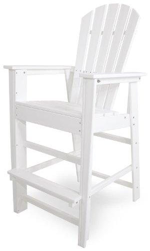 POLYWOOD SBD30WH South Beach Bar Chair, White