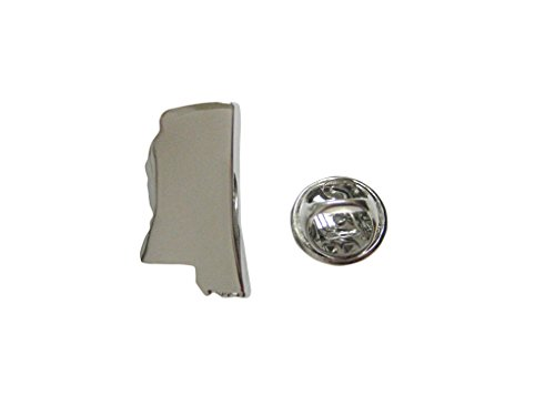 (Mississippi State Map Shape Lapel Pin)