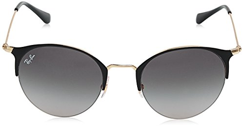 Gold Ban Top RB Black Shiny Sonnenbrille 3578 Ray pFxBFI