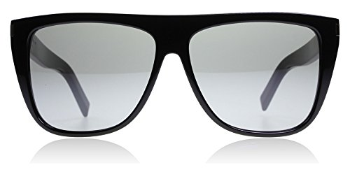 Saint Laurent SL1 001 Black Grey SL1 Wayfarer Sunglasses Lens Category 3 Size - Shop Saint Laurent