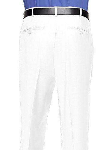 RGM Dress Pants for Men Slim fit Modern Flat-Front - Formal Business Wrinkle Free No Iron White 50 Medium by RGM (Image #2)'