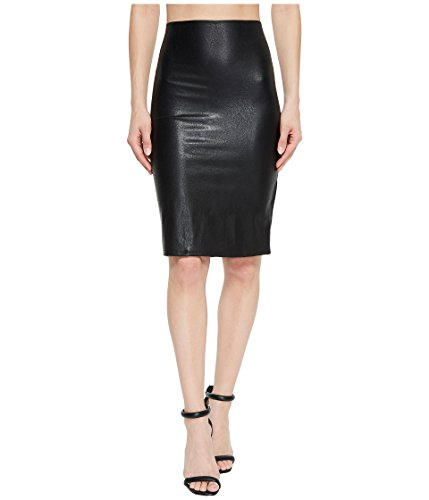 commando Women's Faux Leather Perfect Pencil Skirt SK01 Black Medium